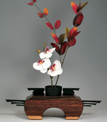 Wood Burl Flower Holder