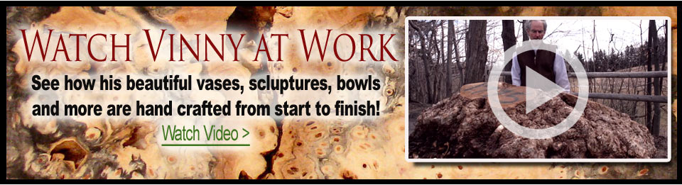 Turned Works: Burl Wood Bowls, Vases and more